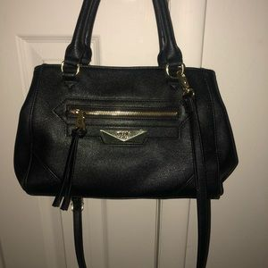 NWOT Nicole miller black leather bag